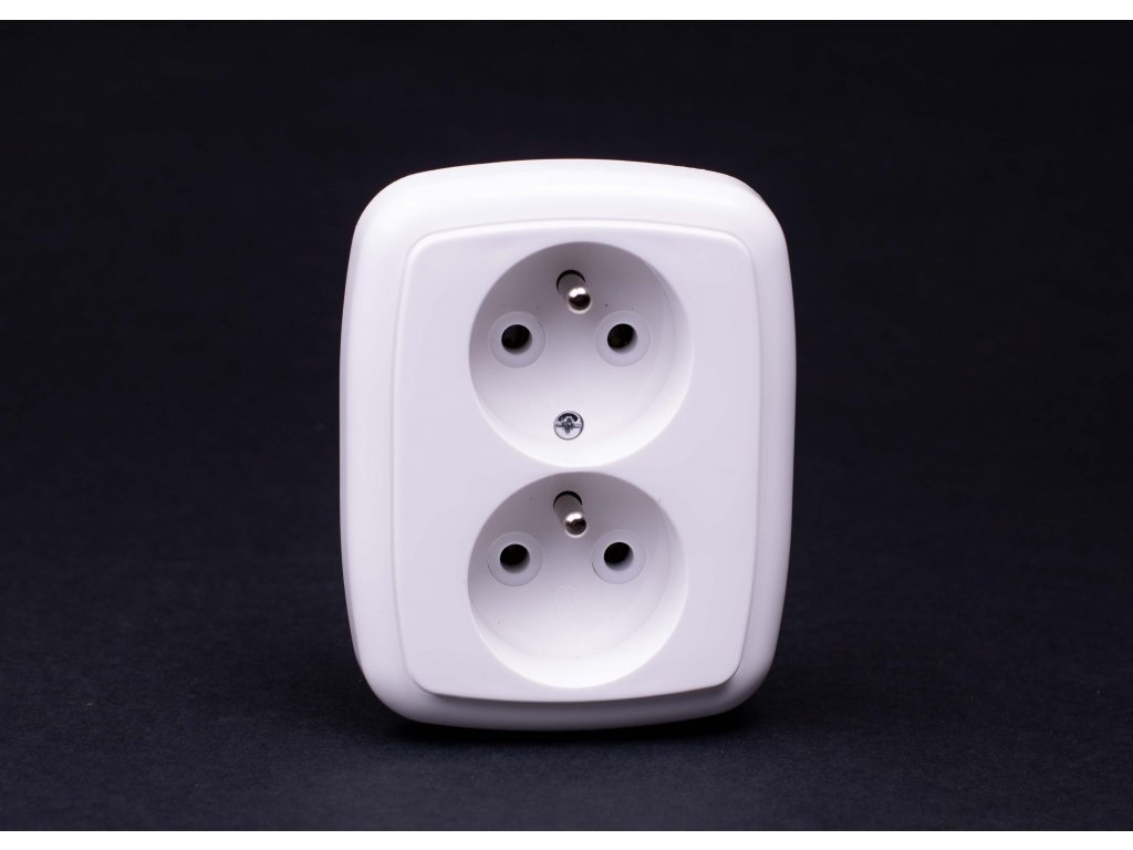 2-zásuvka Modul biela 4FN15051.901