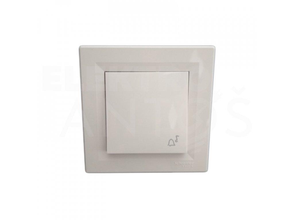 Zvončekové tlačidlo Asfora krémové EPH0800123
