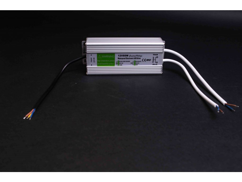 Napájací LED zdroj 12V 80W IP67 3588
