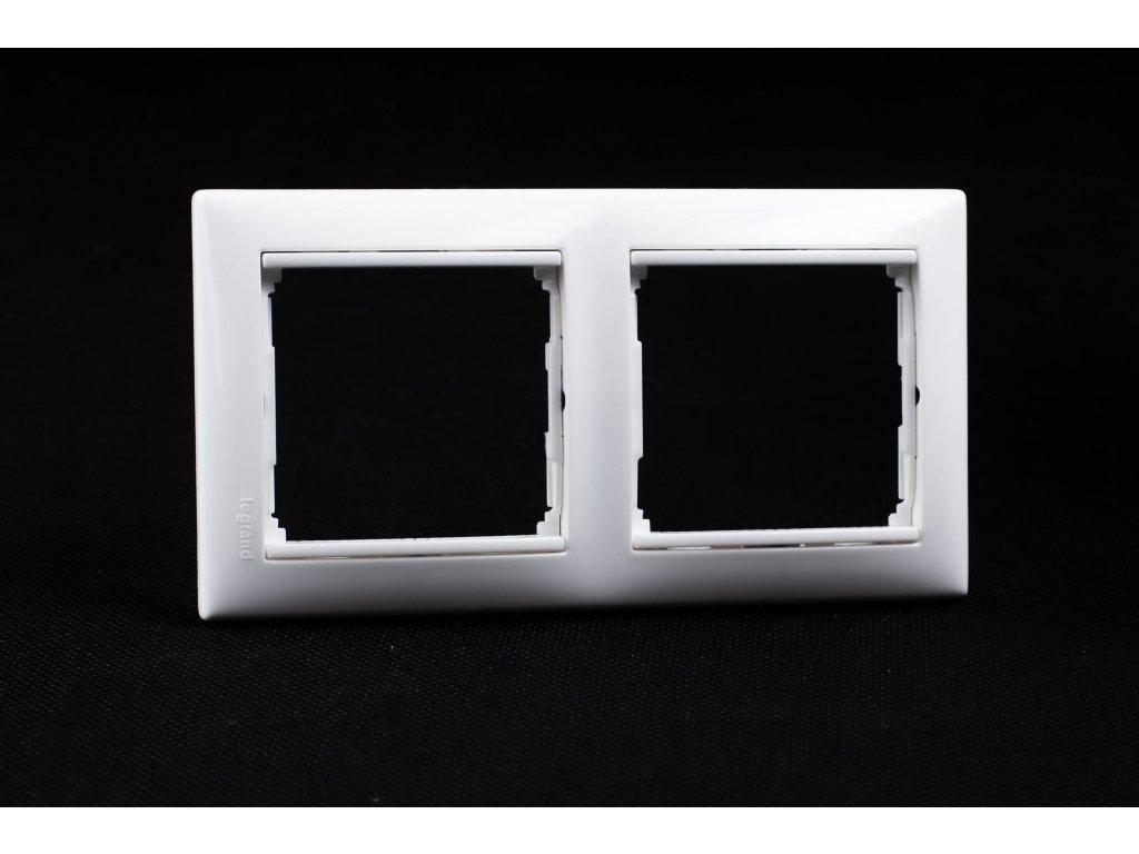 2-rámček VALENA zvislý/vodorovný biely 774452 Legrand
