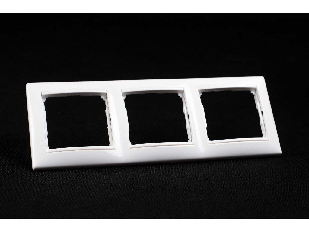 3-rámček VALENA zvislý/vodorovný biely 774453
