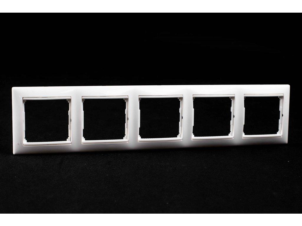 5-rámček VALENA zvislý/vodorovný biely 774455
