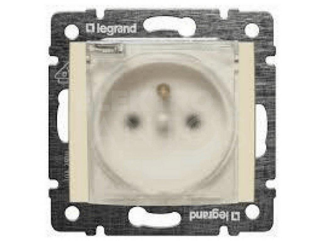 1-zásuvka VALENA IP44 krémová s krytom 774121