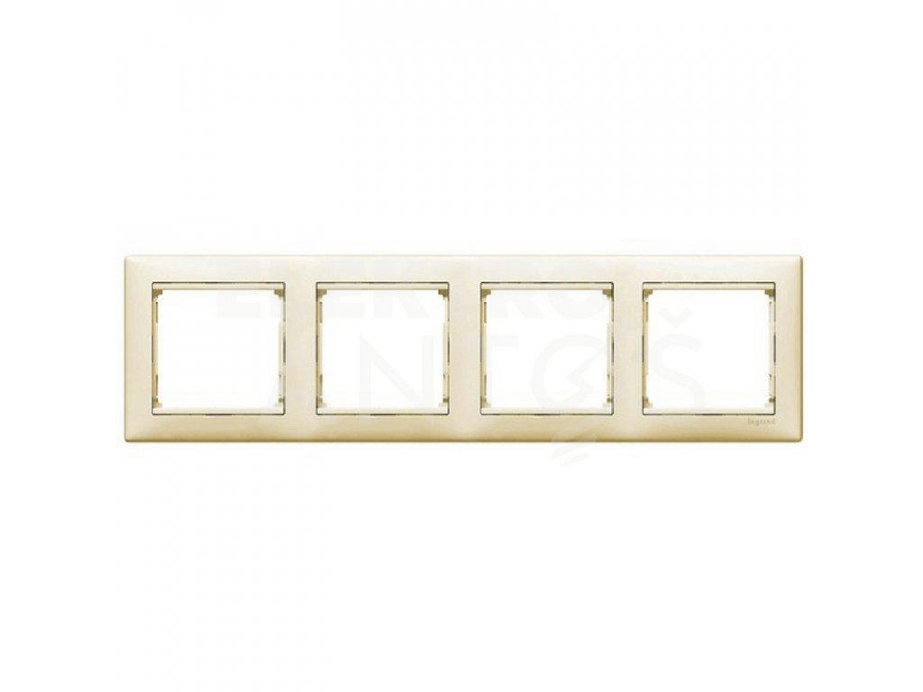 4-rámček VALENA vodorovný krémový 774354