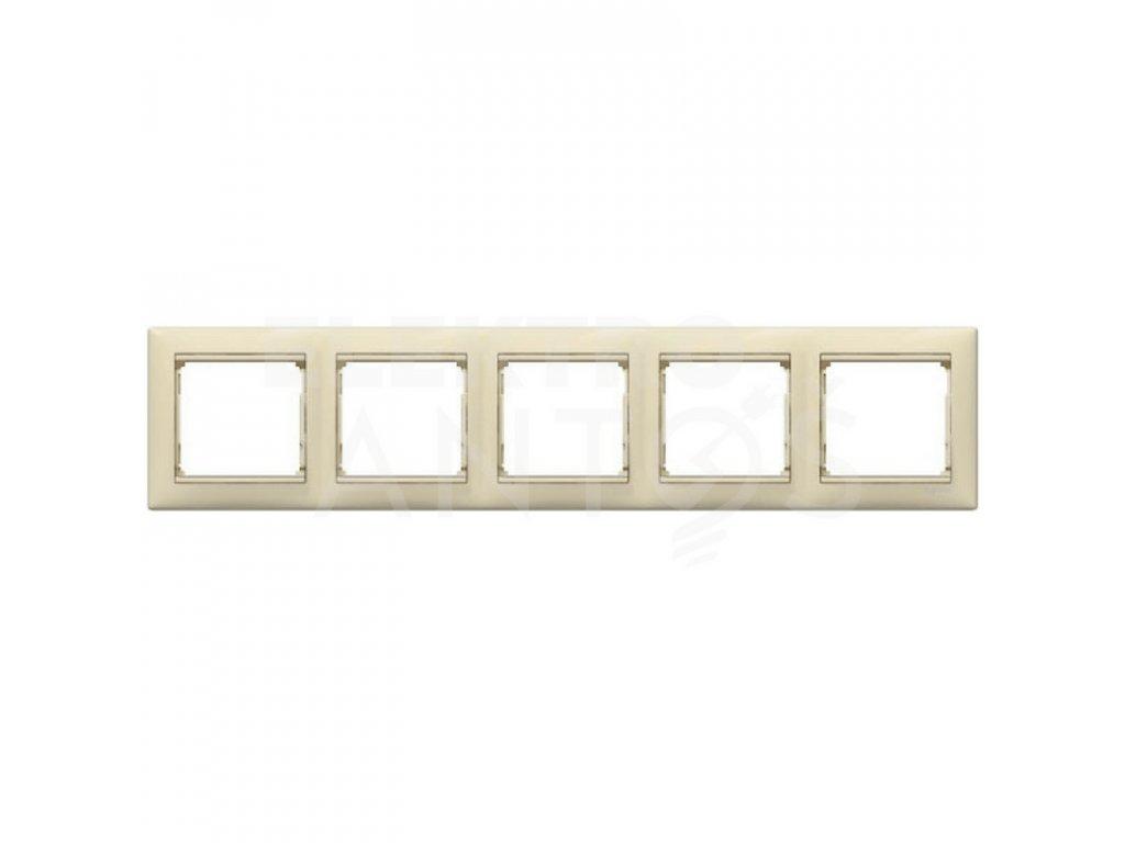 5-rámček VALENA vodorovný krémový 774355
