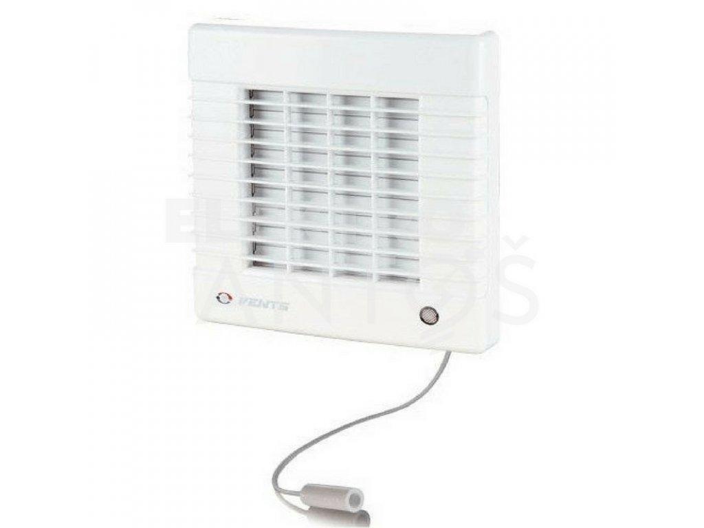 Ventilátor bytový 98m3/h VENTS 100MAV automatická žalúzia ťahový spínač