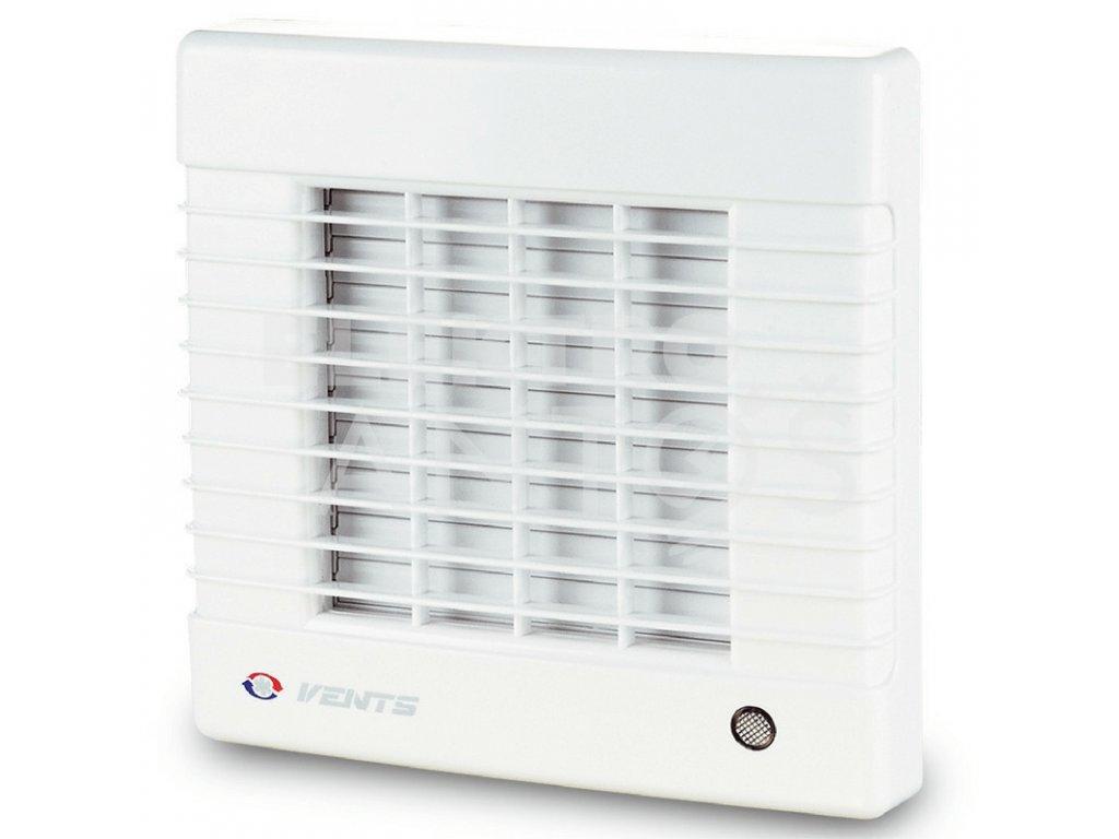 Ventilátor bytový 185m3/h VENTS 125MATL automatická žalúzia časový spínač guličkové ložisko