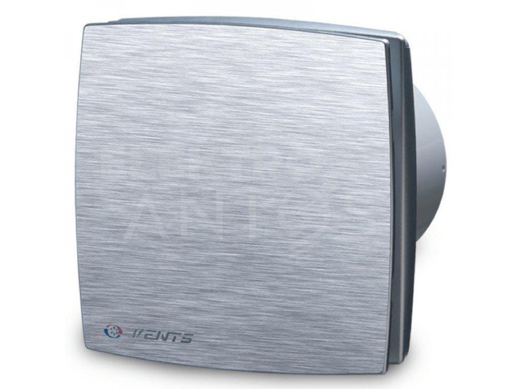 Ventilátor bytový 88m3/h VENTS 100LDATL hliníkový kryt časový spínač guličkové ložisko