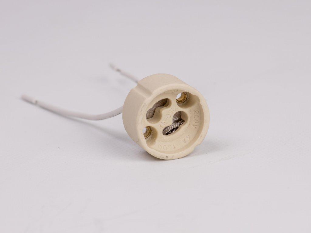 Objímka keramická GZ10-pre žiarovku GU10 samostatne