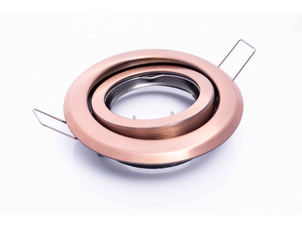 Bodové svietidlo okrúhle výklopné medené ARGUS CT-2115-AN 00333