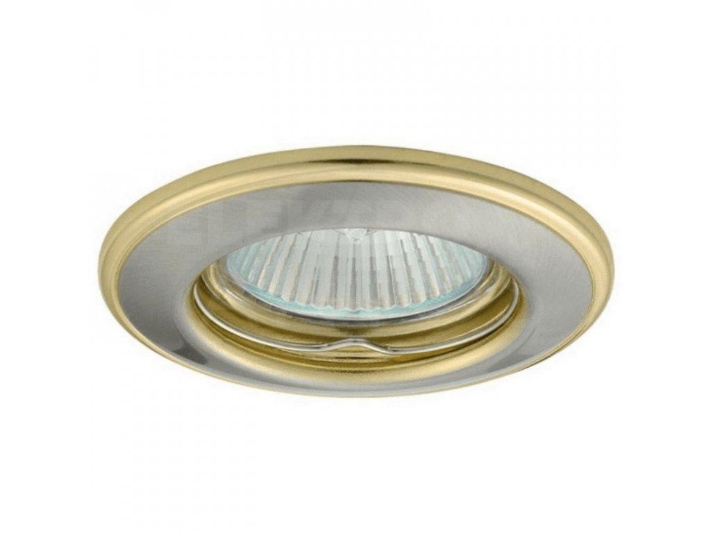Bodové svietidlo okrúhle pevné saténový nikel/zlaté HORN CTC-3114-SN/G 02820