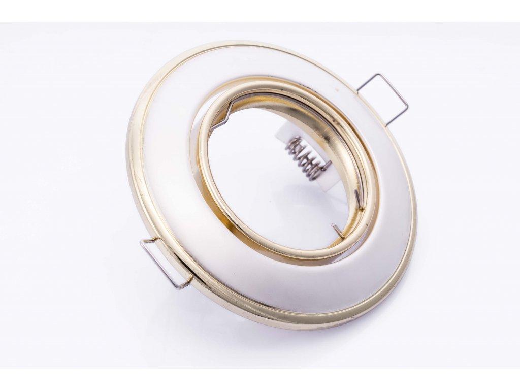Bodové svietidlo okrúhle pevné perleťovo strieborné/zlaté HORN CTC-3114-PS/G 02822