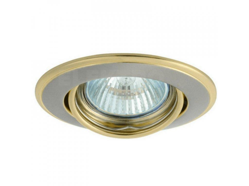 Bodové svietidlo okrúhle výklopné saténový nikel/zlaté HORN CTC-3115 SN/G 02830