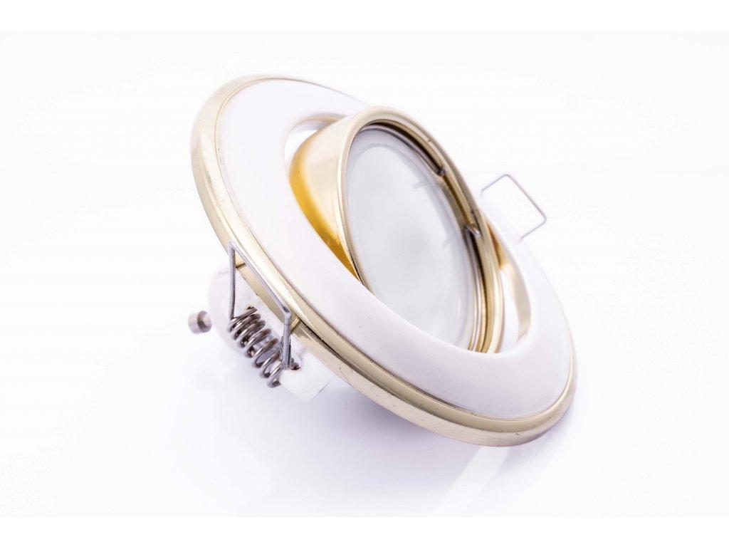 Bodové svietidlo okrúhle výklopné perleťovo strieborné/zlaté HORN CTC-3115-PS/G 02832