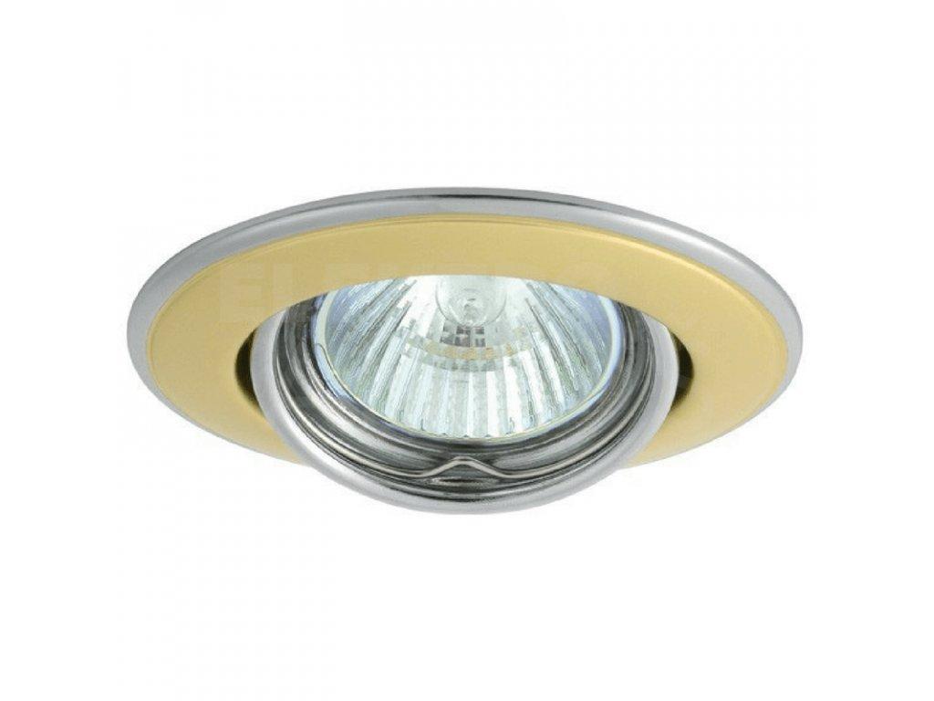 Bodové svietidlo okrúhle výklopné perleťovo zlaté/nikel HORN CTC-3115-PG/N