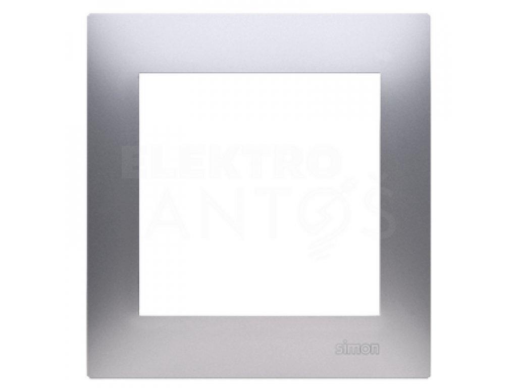 1-rámček Simon54 PREMIUM strieborný matný DR1/43