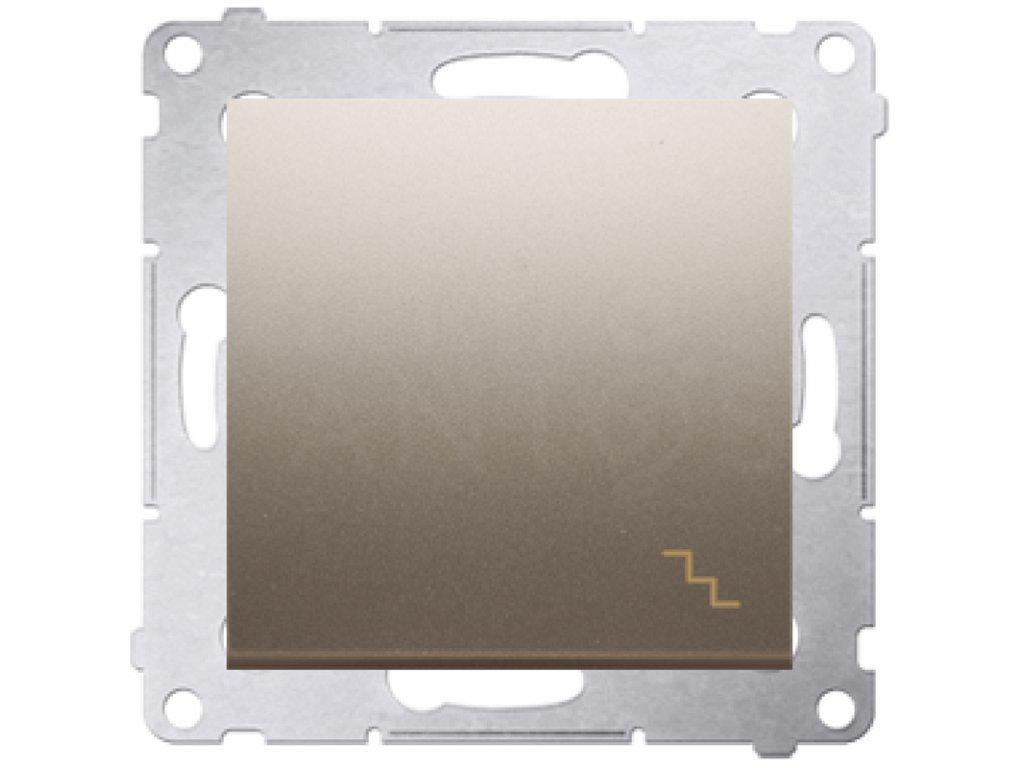 Vypínač č.6 Simon54 PREMIUM/NATURE zlatý matný DW6.01/44
