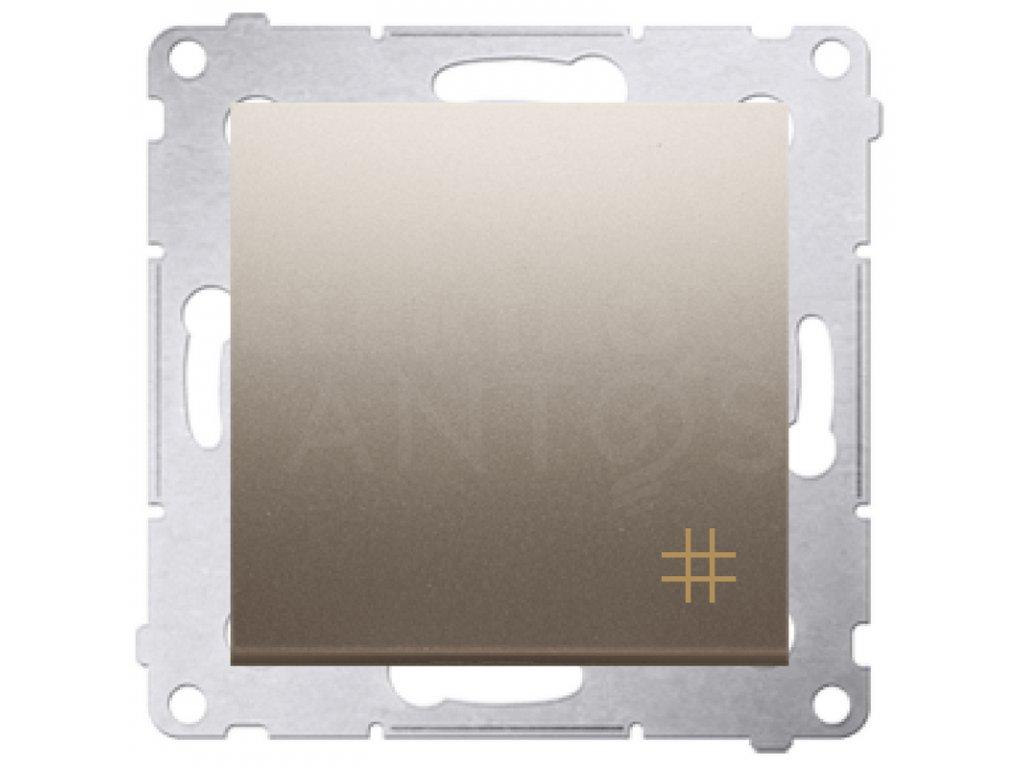 Vypínač č.7 Simon54 PREMIUM/NATURE zlatý matný DW7.01/44