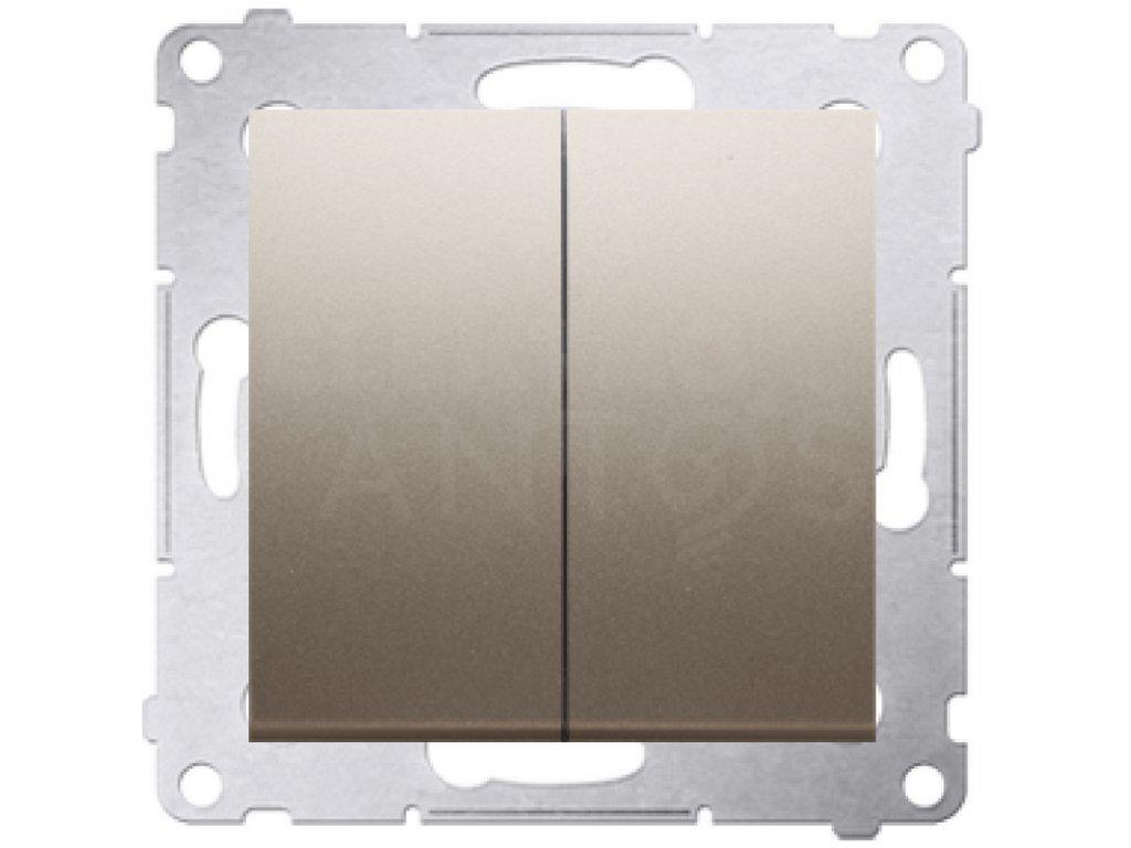 Vypínač č.5 Simon54 PREMIUM/NATURE zlatý matný DW5.01/44