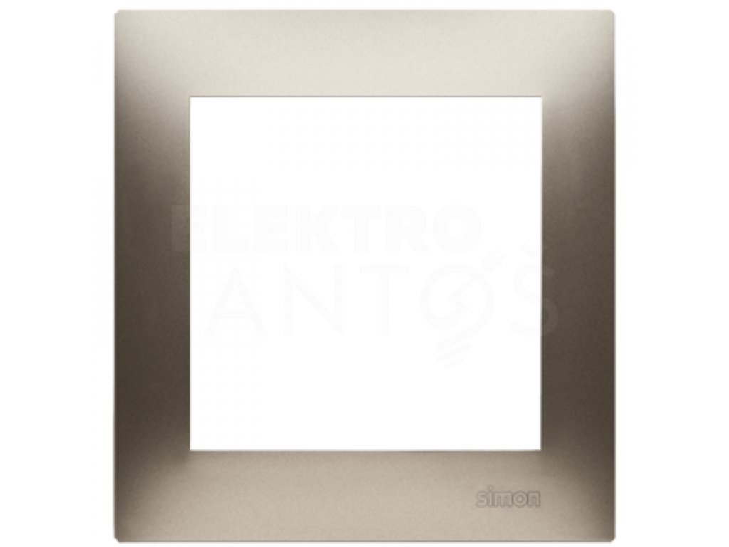 Rámček Simon54 PREMIUM 1-násobný - zlatý matný DR1/44 Kontakt Simon
