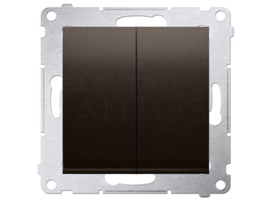 Vypínač č.5 Simon54 PREMIUM/NATURE hnedý matný DW5.01/46