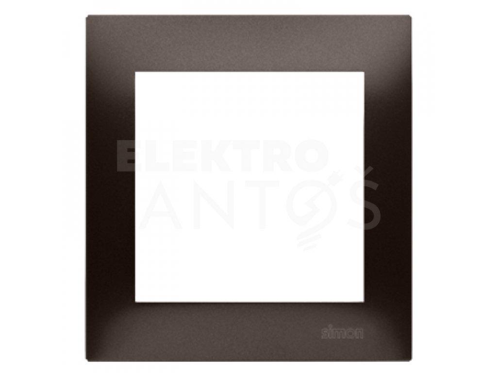 1-rámček Simon54 PREMIUM hnedý matný DR1/46