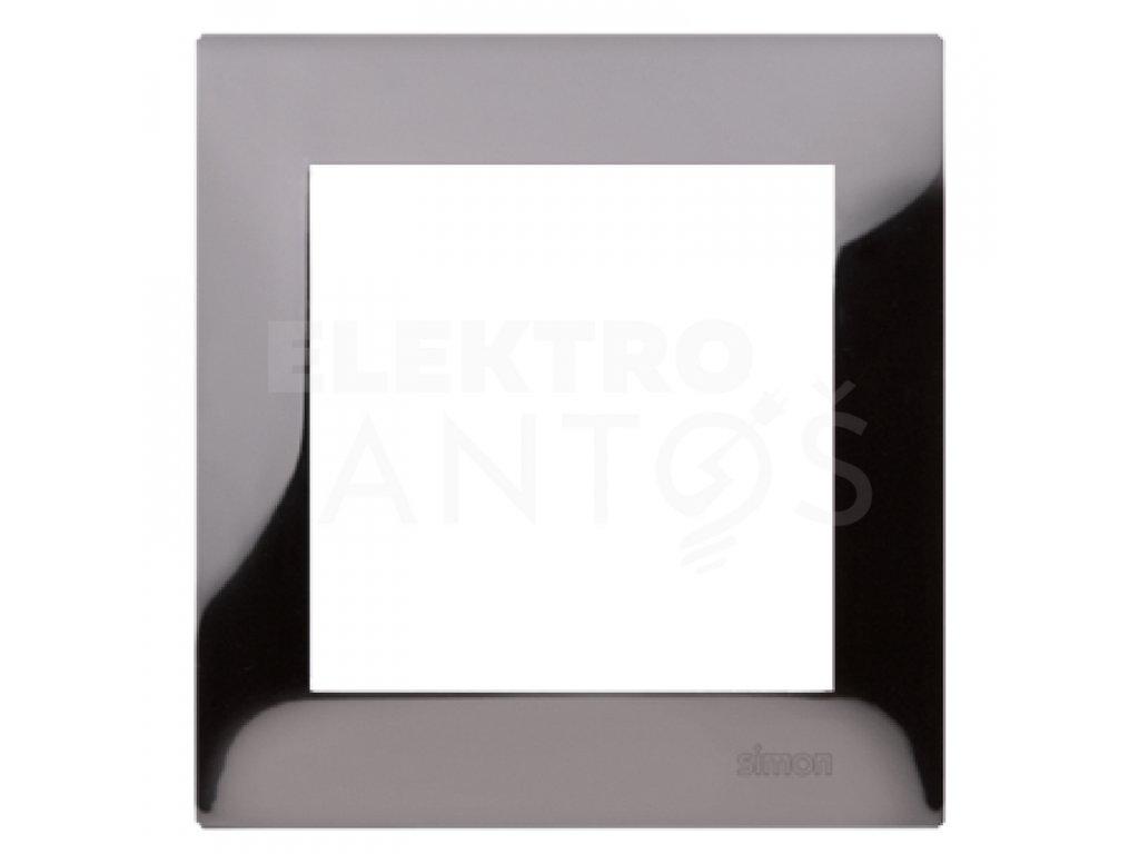 1-rámček Simon54 PREMIUM temná oceľ kovový DR1/67