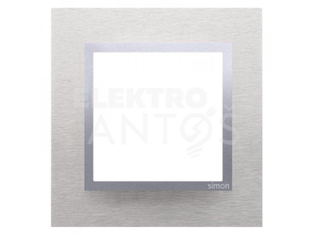 Rámček Simon54 NATURE 1-násobný - inox klasický kovový DRN1/77 Kontakt Simon