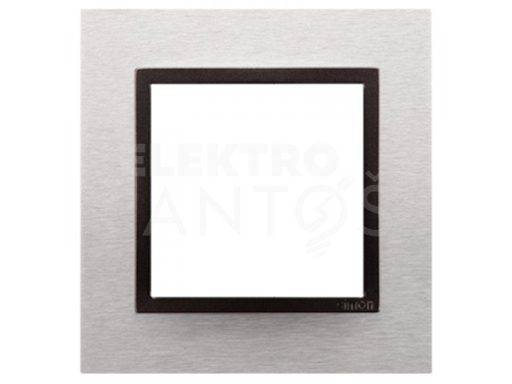 Rámček Simon54 NATURE 1-násobný - inox yang kovový DRN1/76 Kontakt Simon