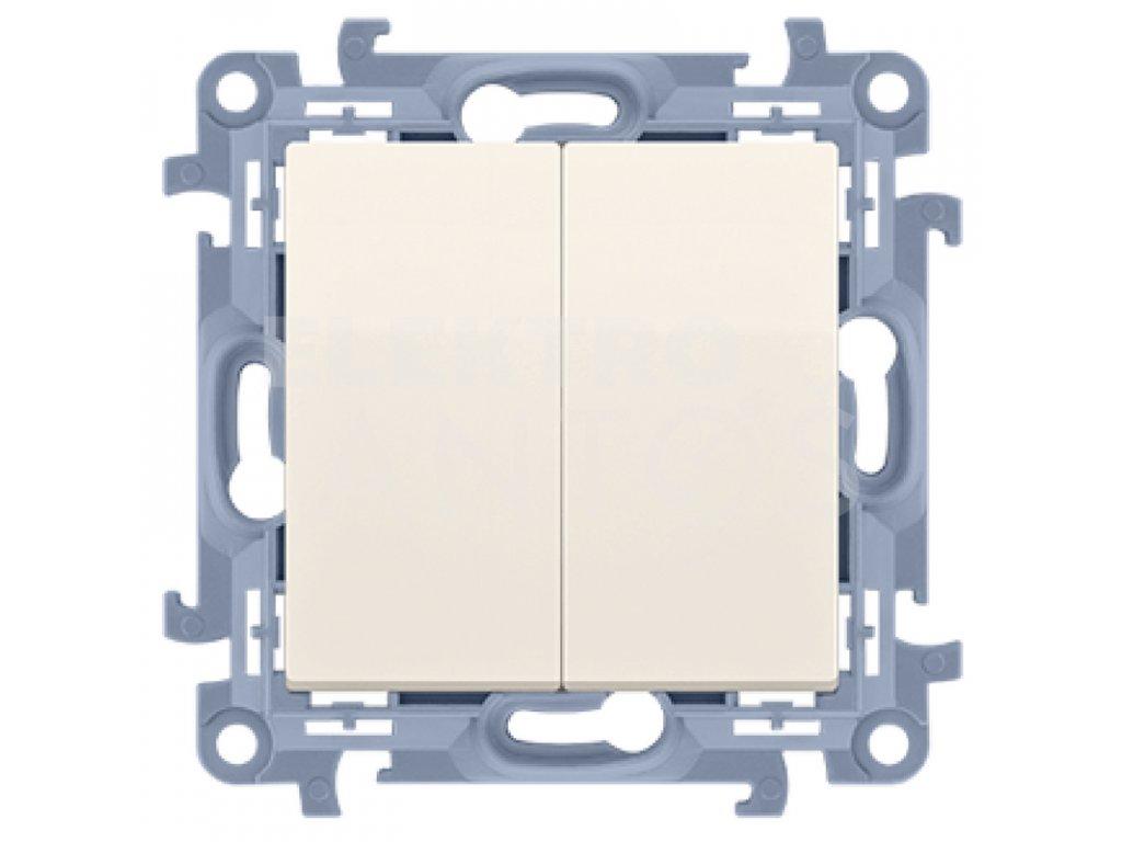 Vypínač Simon10 sériový č.5B-krémový lesklý CW5B.01/41 Kontakt Simon