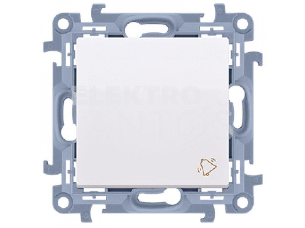 Zvončekové tlačítko Simon10 biele lesklé CD1.01/11 Kontakt Simon