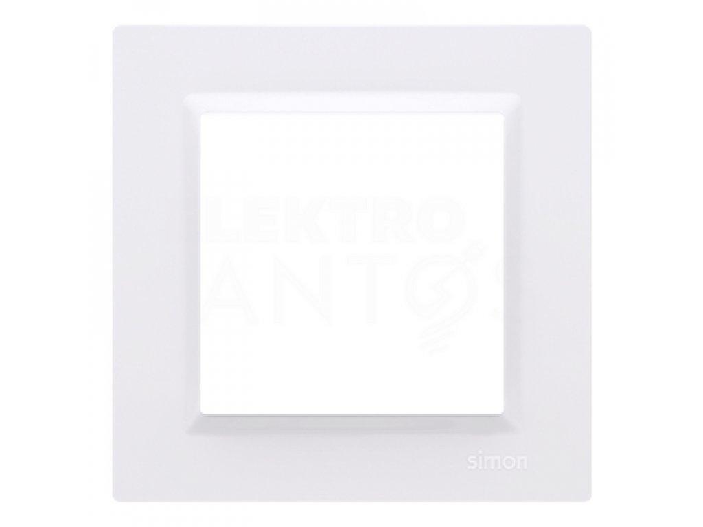 Rámček Simon10 1-násobný - biely lesklý CR1/11 Kontakt Simon