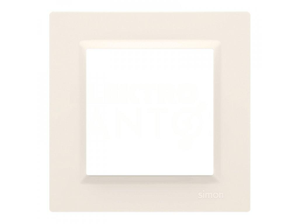 Rámček Simon10 1-násobný - krémový lesklý CR1/41 Kontakt Simon