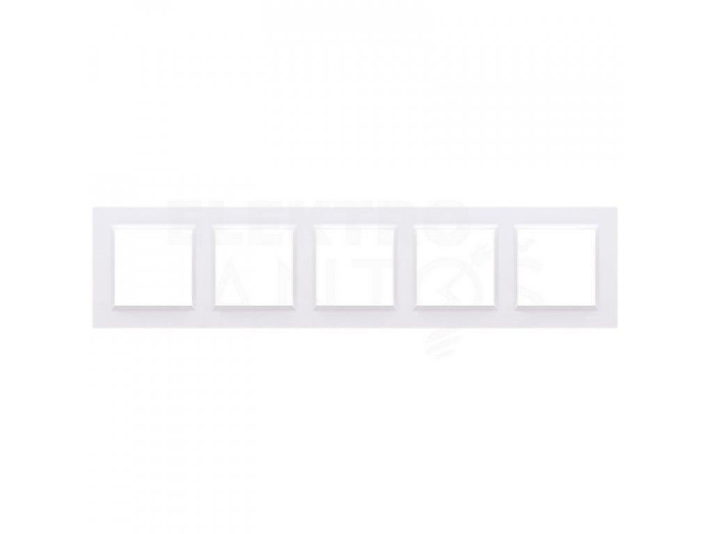 Rámček Simon10 5-násobný - biely lesklý CR5/11 Kontakt Simon