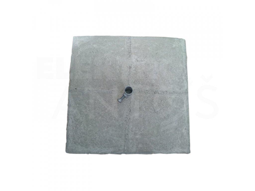 Betónový podstavec k JP a OB zachytávacej tyči 350x350x50