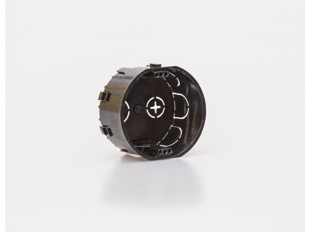Krabica inštalačná prístrojová pod omietku čierna nadpájateľná 6400-301 16764 SEZ