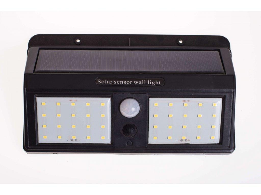 Solárne svietidlo 1,2W IP65 so senzorom čierne 3 programy 0602 LVT