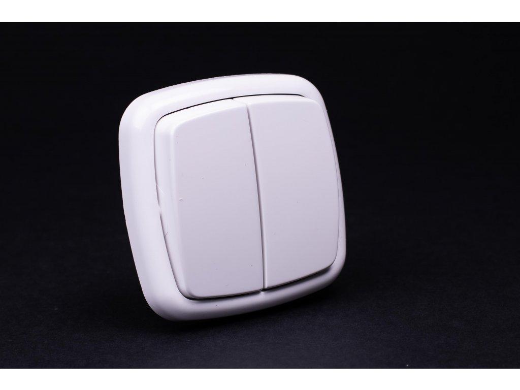 Vypínač č.5B 6+6 Modul biely 4FN57574.901 Tesla
