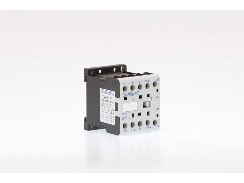 Miniatúrny stykač 9A cievka 24V AC 4xNO TR1K0904B7 Tracon