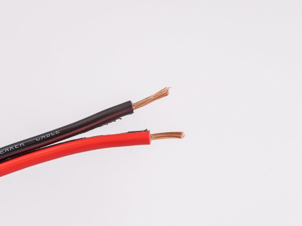Dvojlinka reprokábel 2x0,75 čierna/červená žily