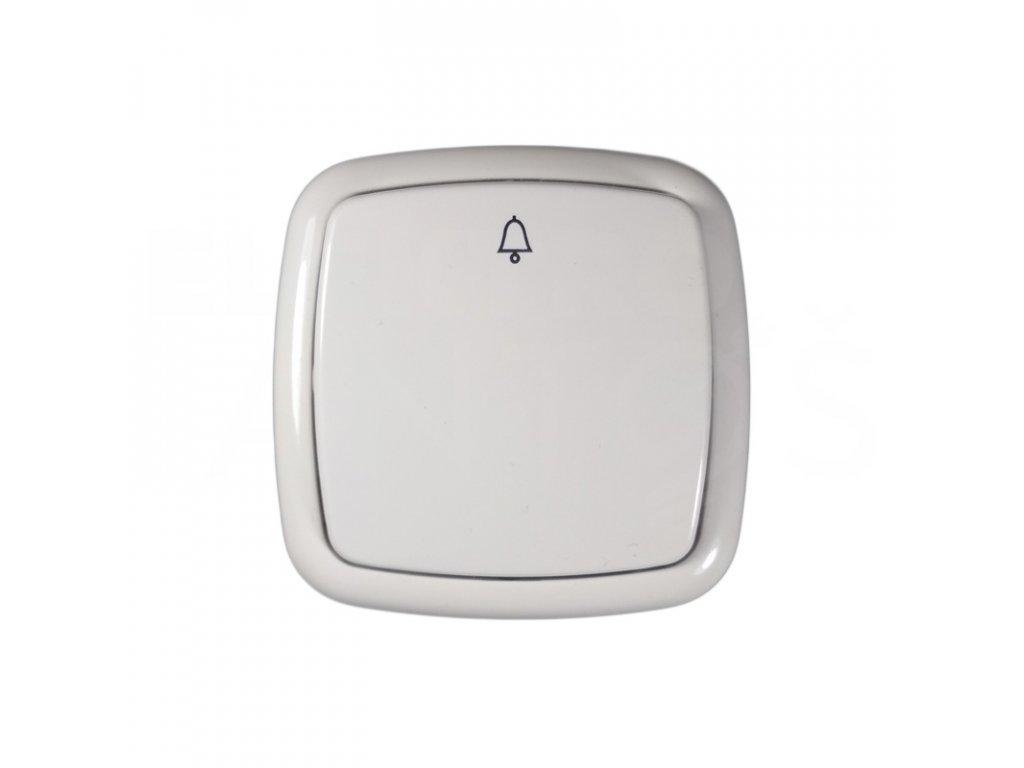 Zvončekové tlačítko TESLA biela