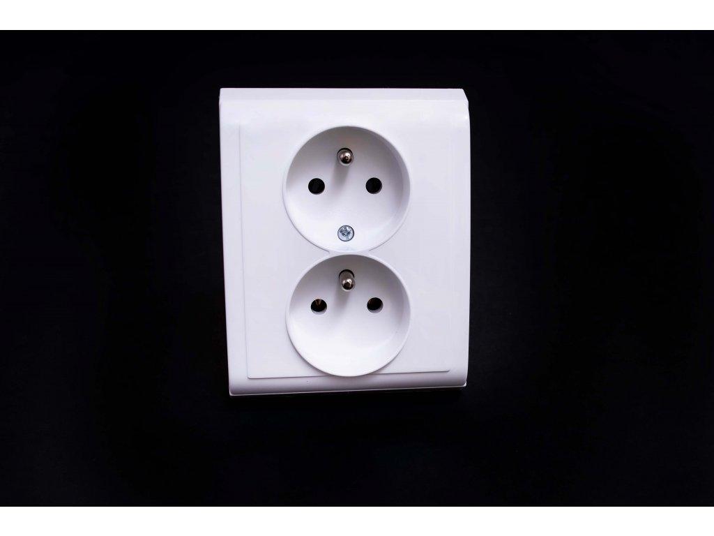 2-zásuvka Praktik biela 4FN15066.901