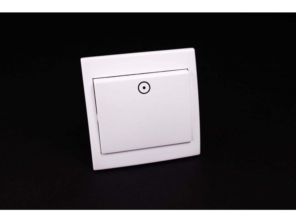 Zvončekové tlačidlo Praktik 1/0S biele 4FN58012.901