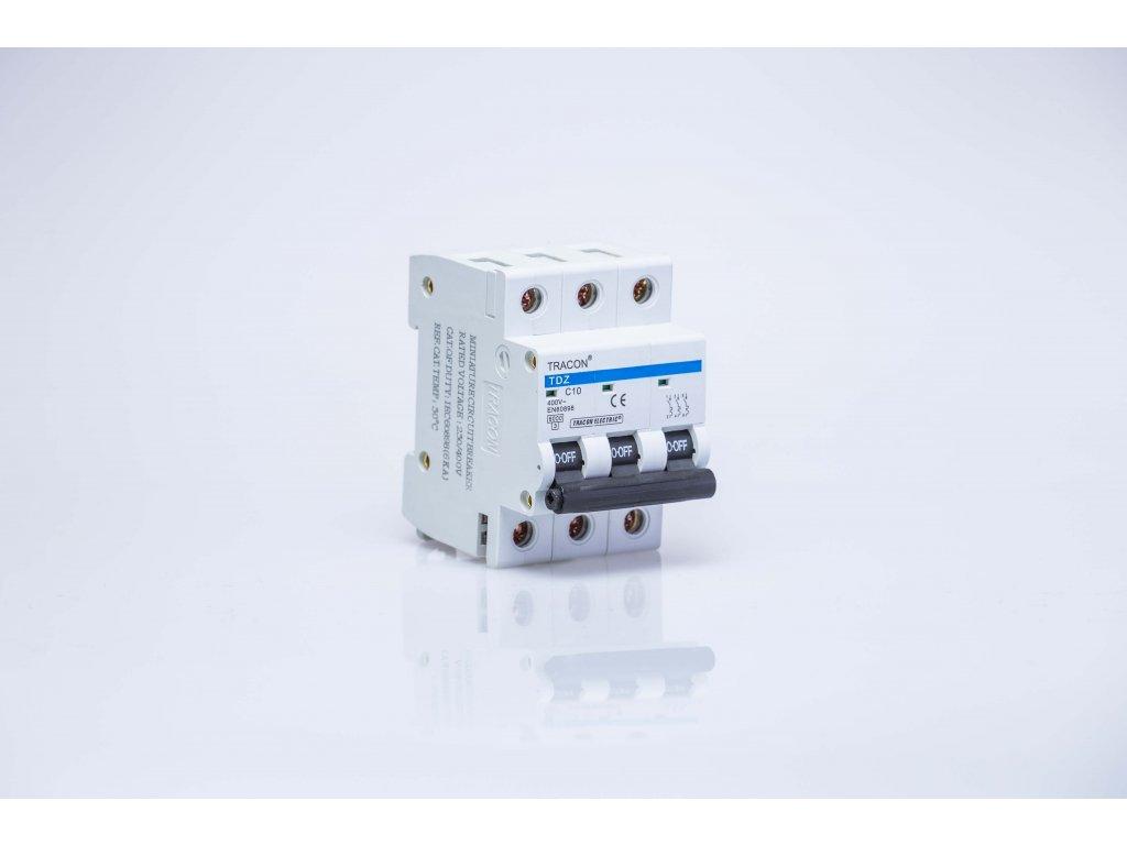 Istič 10A/3P C 6kA TDZ-3C-10 Tracon