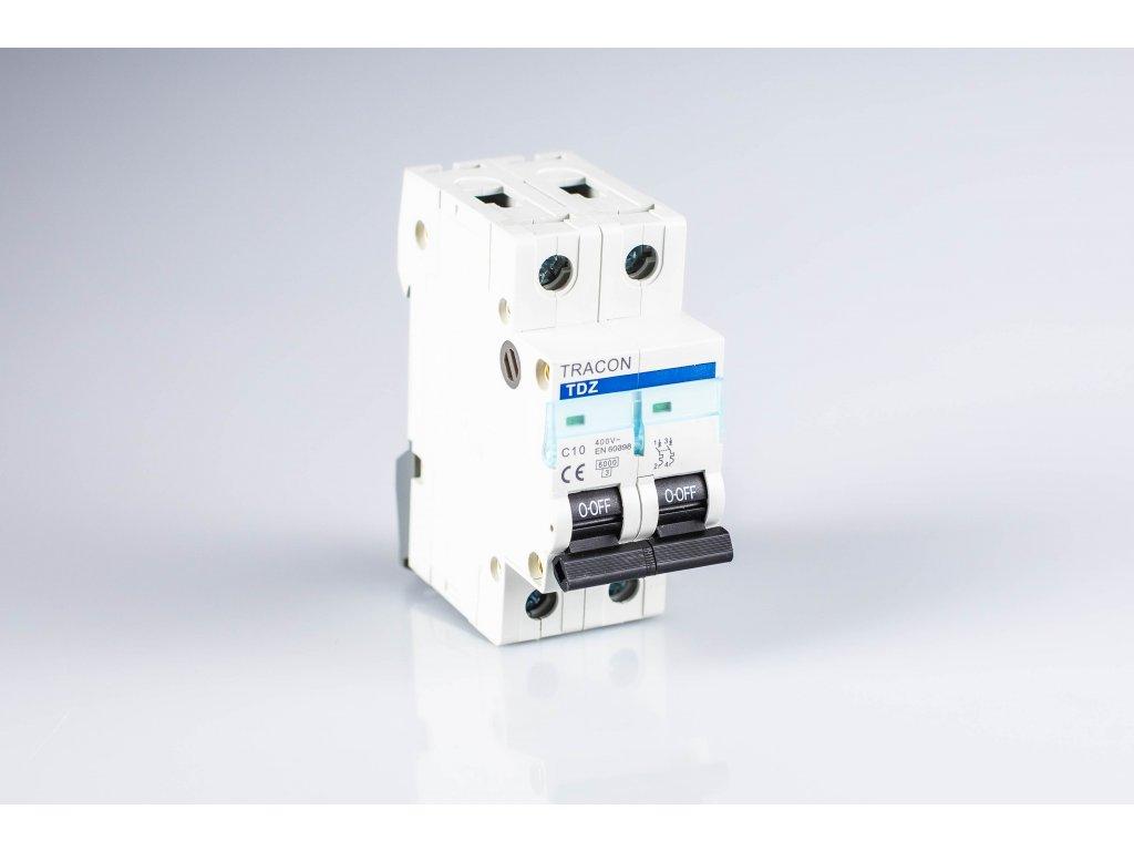 Istič 10A/2P C 10kA TDA-2C-10 Tracon