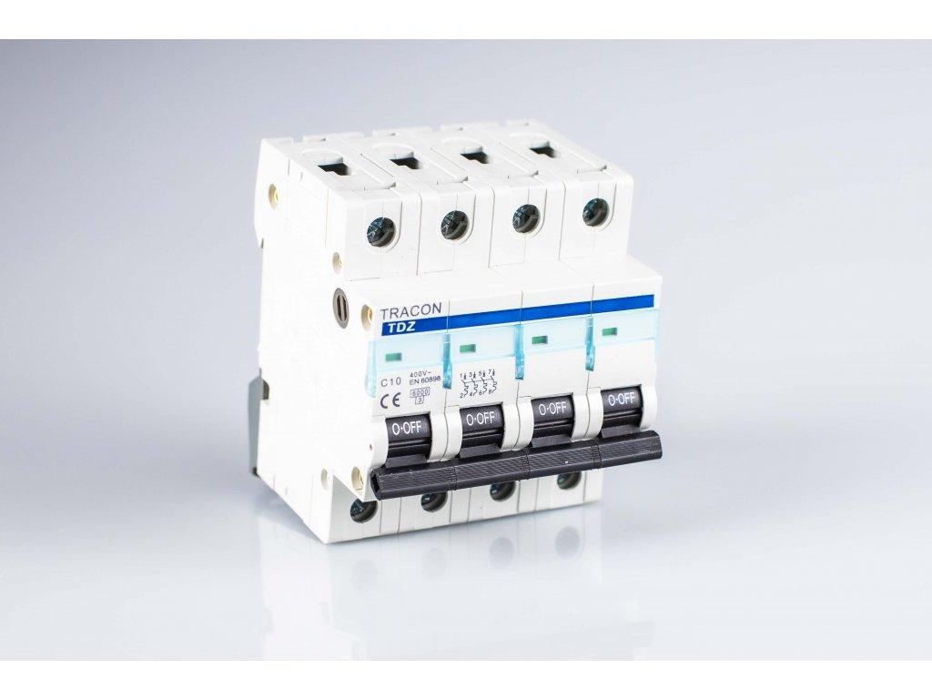 Istič 10A/4P C 10kA TDA-4C-10 Tracon