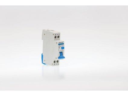 Prúdový chránič s ističom 2P 1modul C10A 100mA 6kA AC KVKVE-10/100