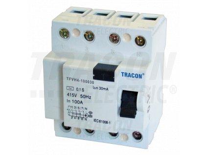 Výkonový prúdový chránič 4P 100A 300mA 6kA AC