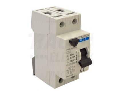 Prúdový chránič 2P 16A 30mA 6kA A/AC TFG2-16030
