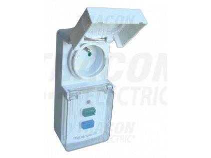 Zásuvkový adaptér s chráničom 16A IP44